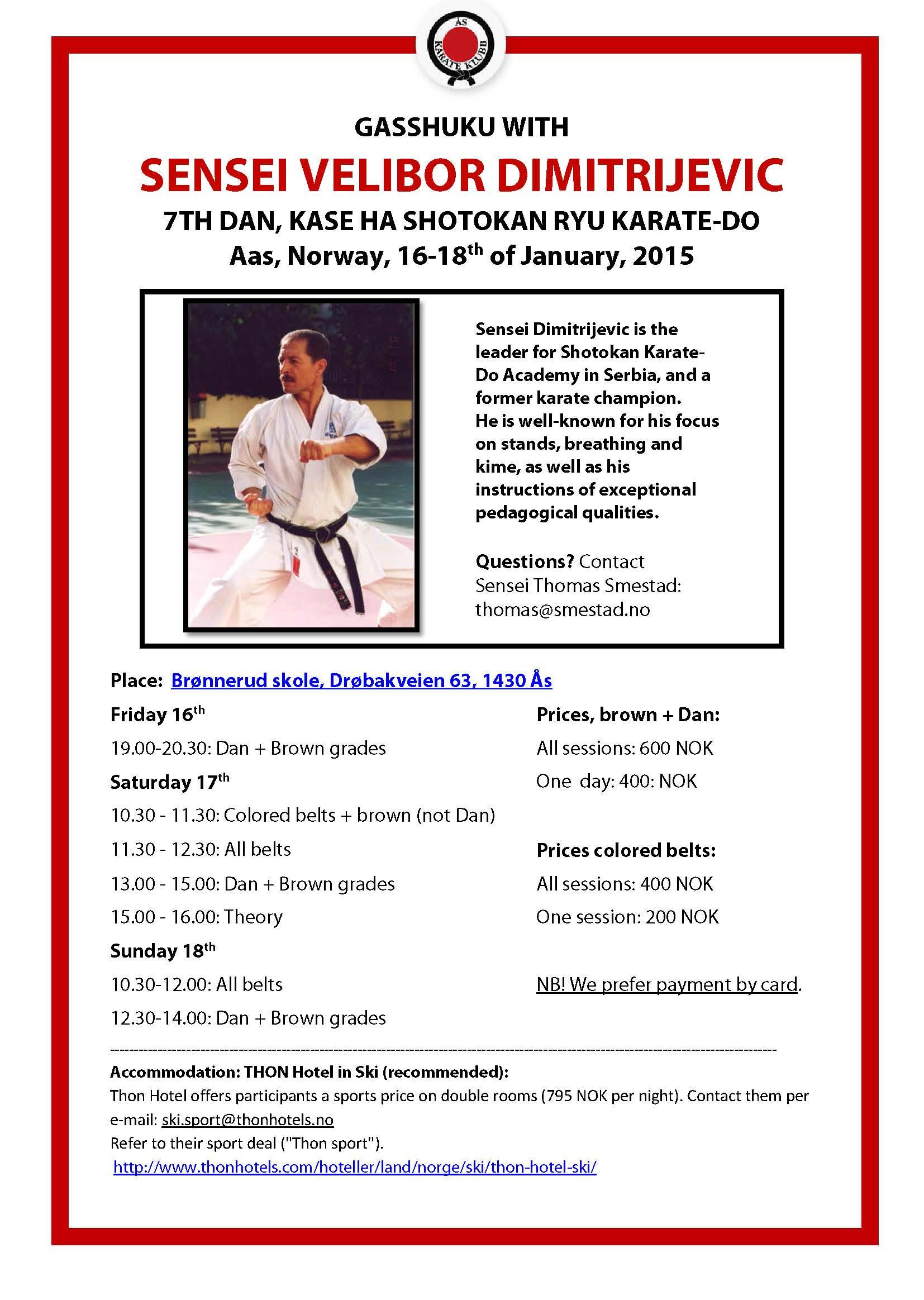 Ås Karateklubb invites 2015